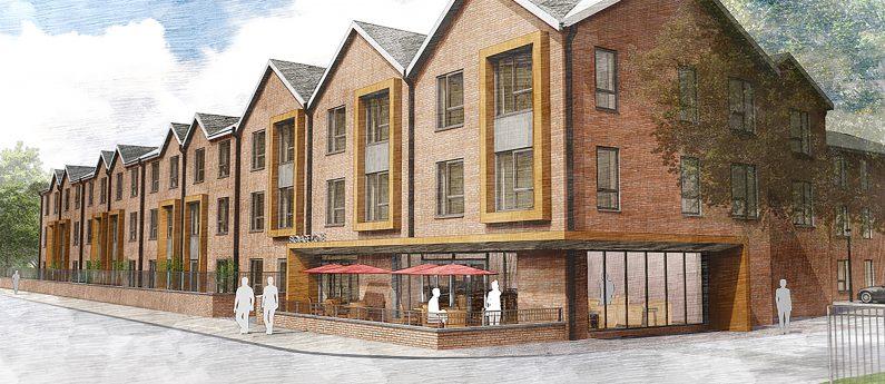 Architect drawing of burnage lane extra care property